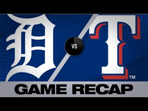Calhoun's 3-run triple lifts Texas to 9-4 win | Tigers-Rangers Game Highlights 8/4/19