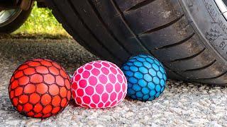 Crushing Crunchy & Soft Things by Car! EXPERIMENT CAR VS Anti Stress Balls