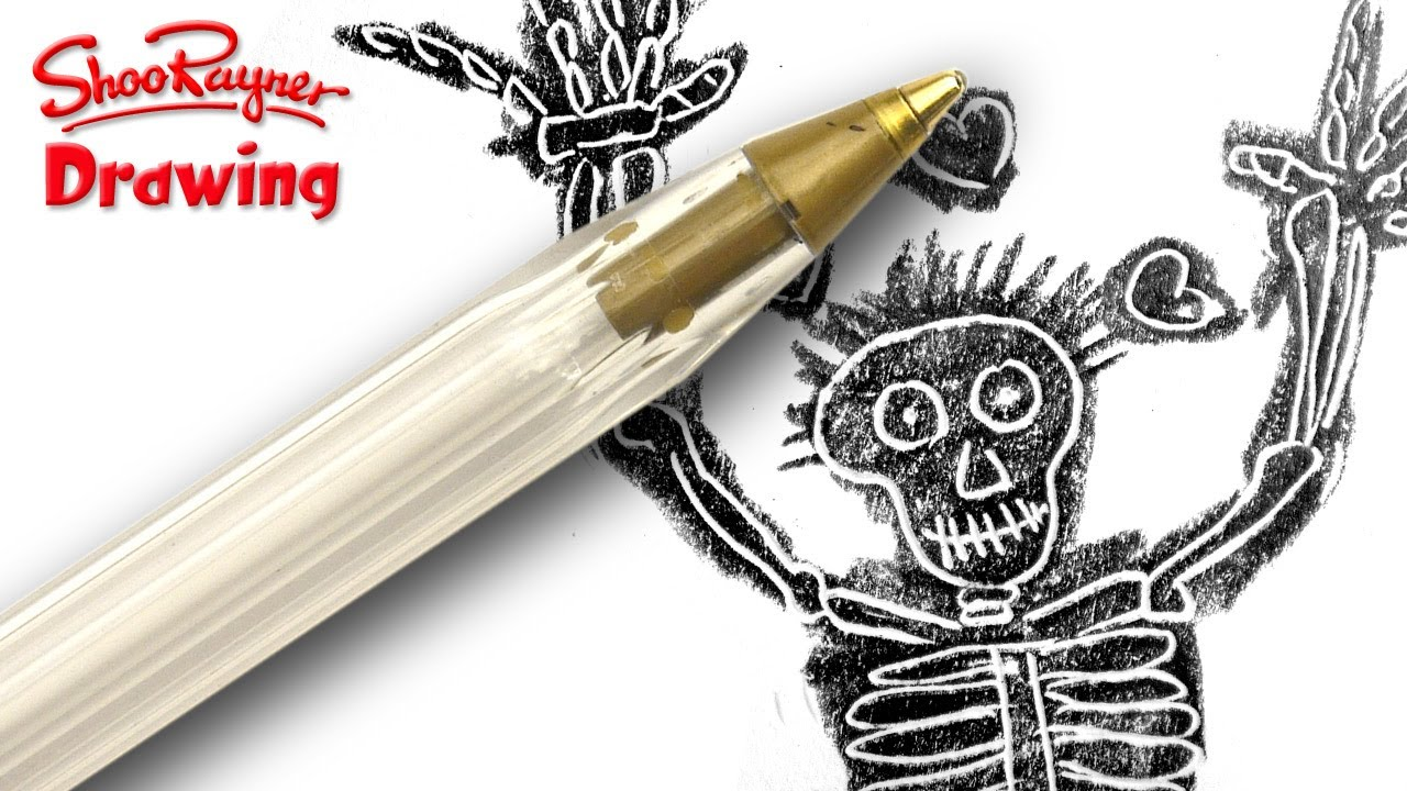 How to draw with an empty Bic Biro Ball Point Pen