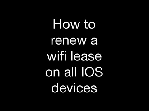 How to renew a WiFi lease on all IOS devices