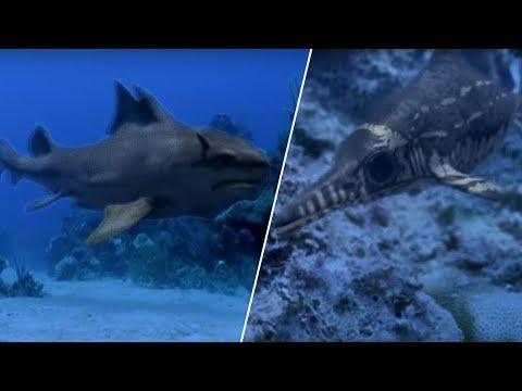 Sharks vs Dinosaurs | Walking with Dinosaurs in HQ | BBC