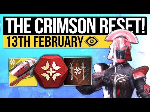 Destiny 2 | CRIMSON DAYS RETURNS! New Event Loot, Weekly Reset &Eververse Stock! (13th February) thumbnail