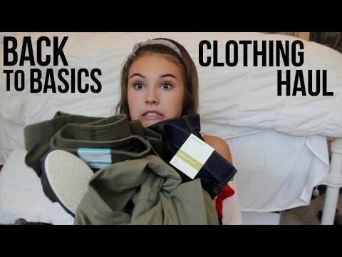 BACK TO BASICS CLOTHING HAUL: SUMMER 2016