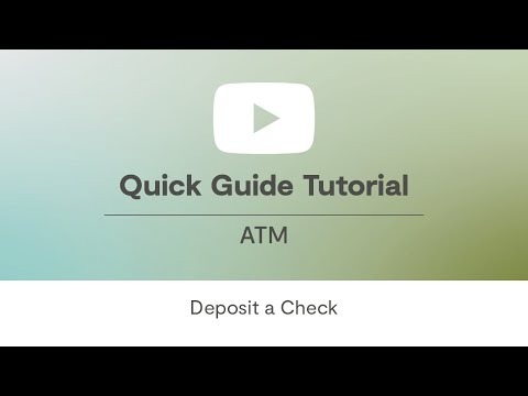 Deposit ATM Tutorial