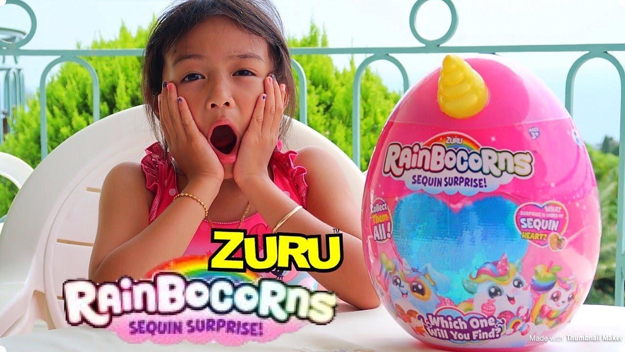 Zuru Rainbocorns Sequin Surprise For Plush Rainbow Unicorn Tiny Treasures I Love Unicorns Lovers