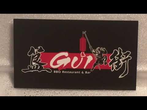 Gui bbq restaurant & bar Irvine California rainy 2021 unbiased unsponsored vegan friendly review