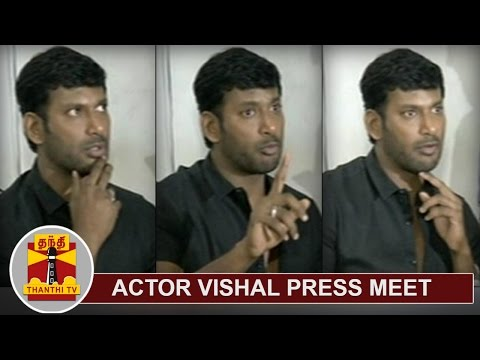 Actor Vishal addresses Media about his suspension from TN Film Producers' Council | Thanthi TV