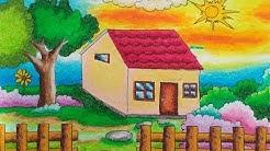 Cara Mudah Mewarnai Gambar Rumah Untuk Anak Anak