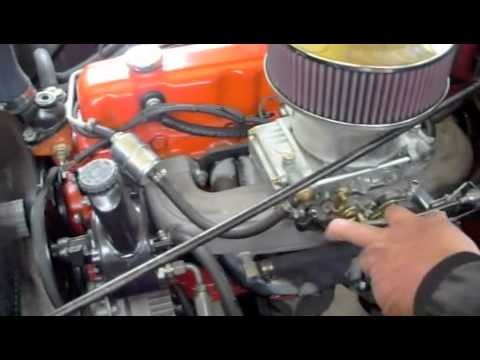 250 Chevy six with Holley 4brl. - YouTube