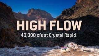 HIGH FLOW   40k cfs at Crystal Rapid
