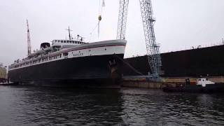 S.S. Badger Entering Drydock, December 07, 2015