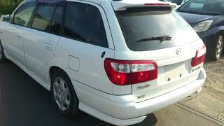 Видео-тест автомобиля Mazda Capella Wagon (белый, GWEW-204481, 2000г.)