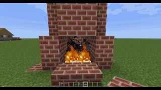 minecraft-sönmeyen şömine yapımı
