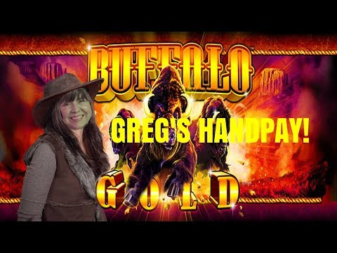 GREG'S HANDPAY!  BUFFALO GOLD SLOT MACHINE BONUSES