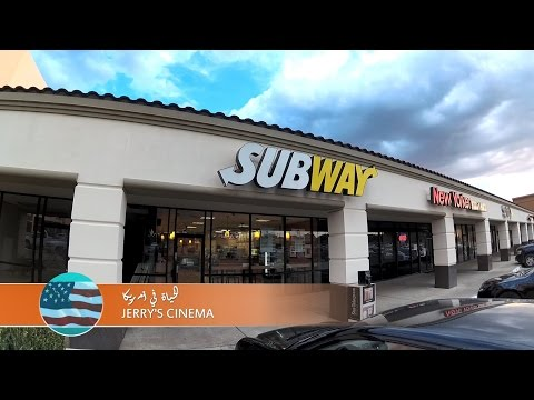 LIFE IN AMERICA-AT SUBWAY-زيارة مطعم سبواي للسندوتشات