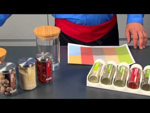 Self adhesive kitchen labels 4FOOD, 4 sheets