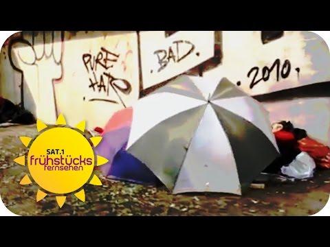 Obdachlos in Berlin: Leben zwischen Kanal und Kanzleramt  | SAT.1 Frühstücksfernsehen