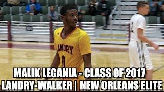 Malik Legania Premium Highlights - Landry-Walker/New Orleans Elite 2017 G