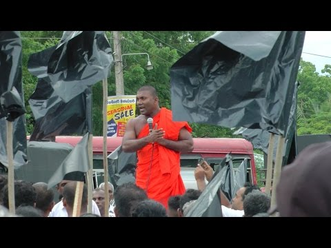 Hambantota Buddhist monks lead protest against Chinese investments in Sri Lanka