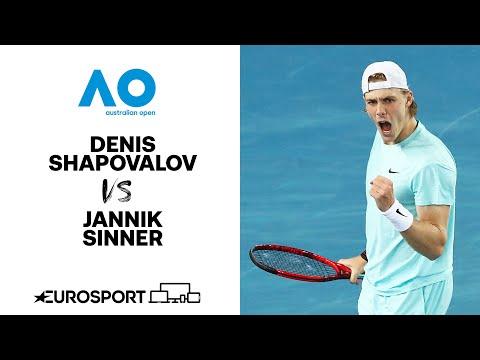 Denis Shapovalov v Jannik Sinner | Australian Open 2021 - Highlights | Tennis | Eurosport