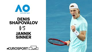 Denis Shapovalov v Jannik Sinner | Australian Open 2021 - Highlights | Tennis | Eurosport