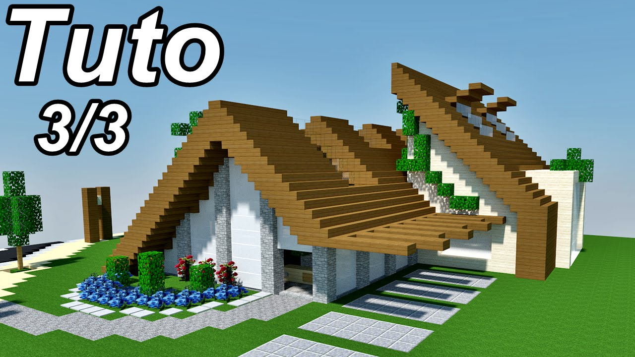 Minecraft tuto maison moderne cosy 3 3 youtube for Maison moderne youtube minecraft