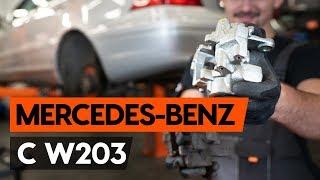 Ako vymeniť zadný brzdový strmeň na MERCEDES-BENZ С W203 [NÁVOD AUTODOC]