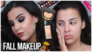 FALL MAKEUP TUTORIAL using  DRUGSTORE/AFFORDABLE PRODUCTS 2018! | MakeupByAmarie