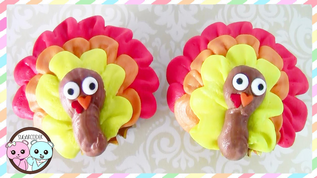 Turkey Cupcakes Thanksgiving Cupcakes Turkey Cake Sugarcoder Youtube