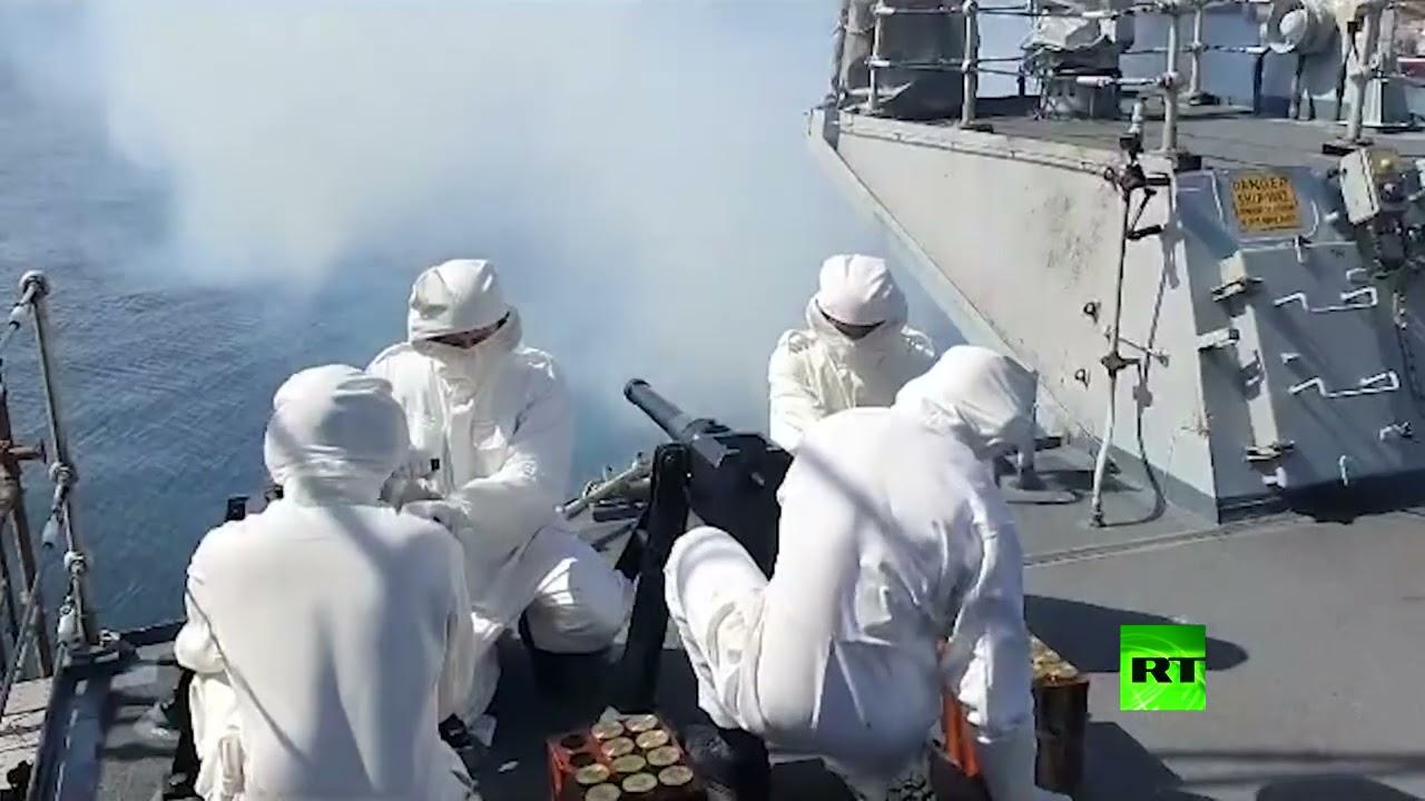 شاهد.. نيران مدافع البحرية الملكية البريطانية تودع الأمير الراحل  - نشر قبل 22 دقيقة