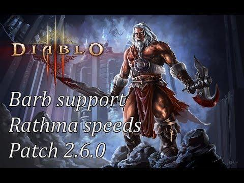 Diablo 3 RoS - Build Barb Support - Speedy 3x Nekro + Barb (Patch 2.6.0)