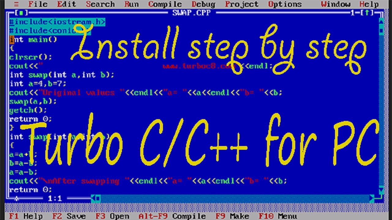 Turbo c/c++ for windows 10 64/32 bit codeplex archive.