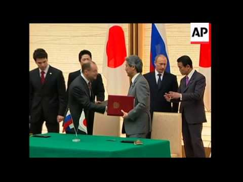 PM Putin meets Japanese counterpart Aso, presser