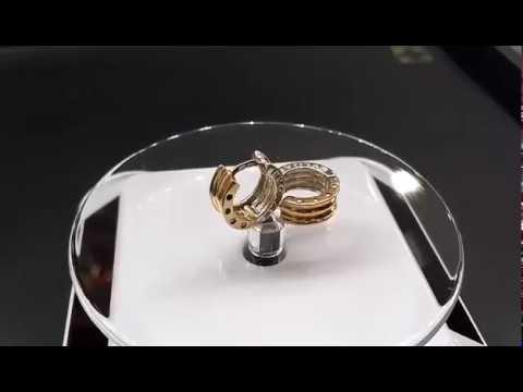 Золотые серьги с султанитом и фианитами [276896] - YouTube