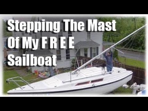 Stepping The Mast Of My MacGregor Sailboat