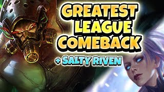 BEST COMEBACK IN LEAGUE HISTORY! SALTY RIVEN COMPLAINS ABOUT TRYND - League of Legends Full Gameplay