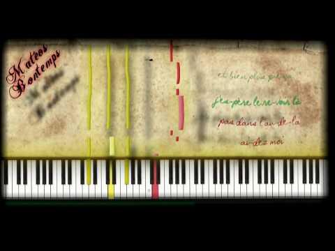☆☆ Indila ~ Tourner dans le vide ☆☆ (piano tuto karaoke)