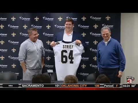 Saints Tackle Zach Strief Retires after 12 Years