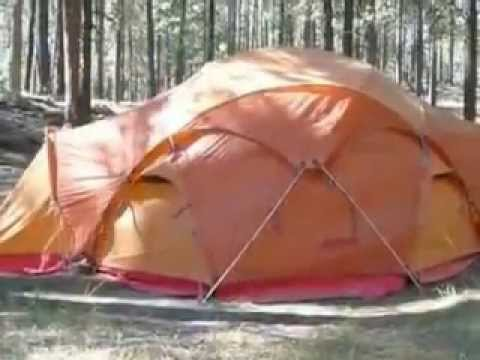 & Marmot Lair 6 Person Tent - YouTube