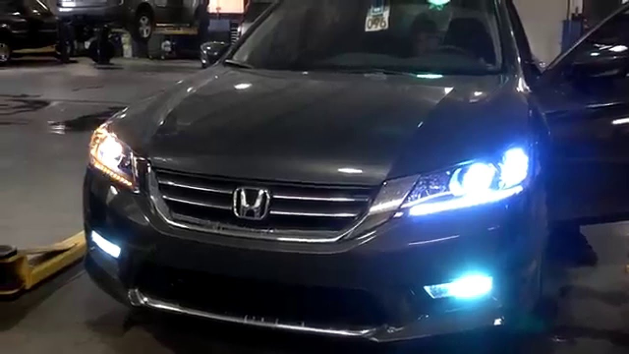 2013 Honda Accord Headlight Conversion Youtube