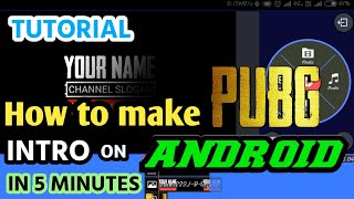 How To Make Intro Like PUBG on Android | Kinemaster | Insane Rivals