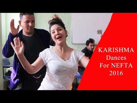 कान्छा नाजिरसँग करिश्माले दुबई तताउने   Karishma Dances For NEFTA 2016