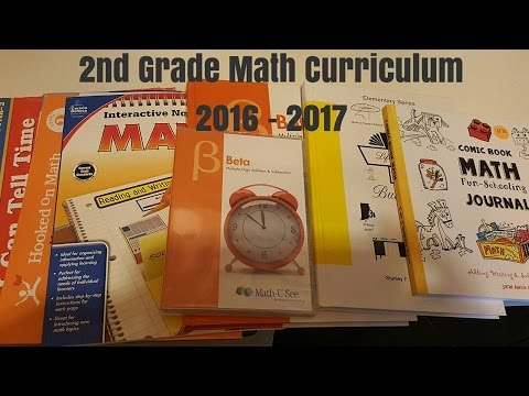 2nd Grade HOMESCHOOL CURRICULUM CHOICES | 2016 - 2017 | Math