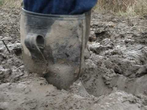 Rigger Boots Got Stuck In Mud Close Camera Youtube