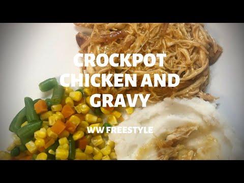 EASY CROCKPOT CHICKEN AND GRAVY