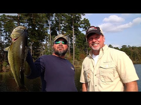 Greg Hackney Catching Bass In Deep Hydrilla