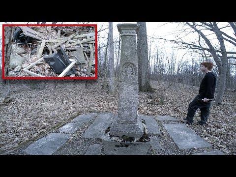 Abandoned Graveyard Hidden in the Forest Civil War Era and Junkyard