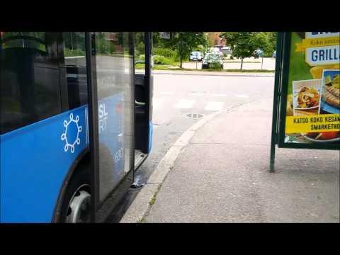Helsinki city bus. Helsingin paikallisliikenteen bussi.