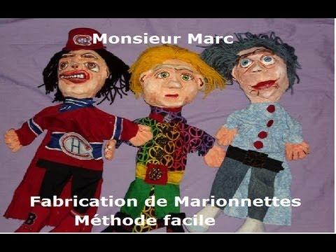 Fabrication de marionnettes avec monsieur marc youtube - Fabriquer une marionnette articulee ...