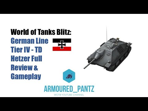 World Of Tanks Blitz: German Line - Tier IV TD Hetzer Complete Guide
